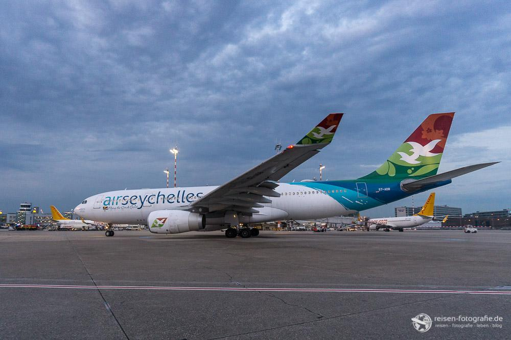 Air Seychelles A330 mit Weitwinkel