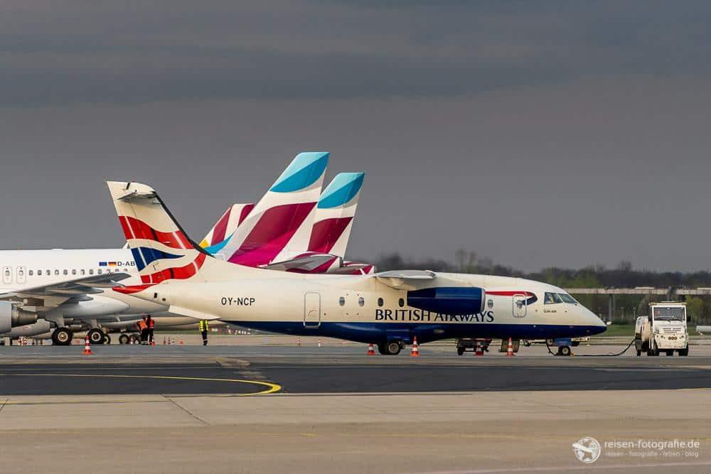 Eher selten: Dornier 328 von British Airways