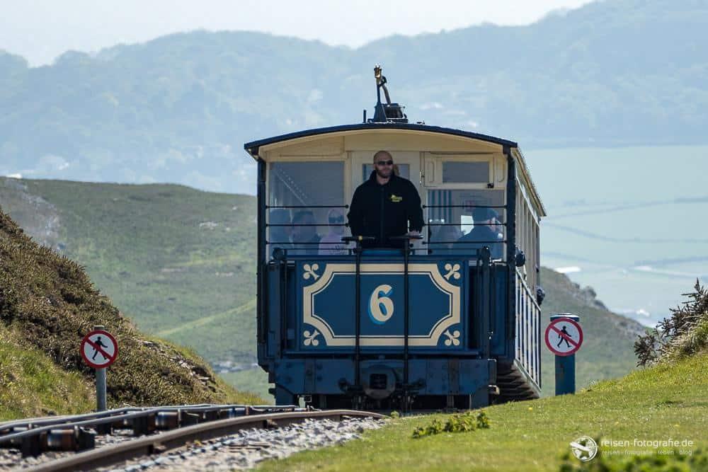 Cable Car kurz vor dem Gipfel