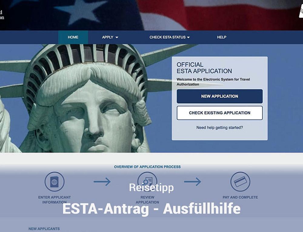 ESTA Antrag – Anleitung und Ausfüllhilfe
