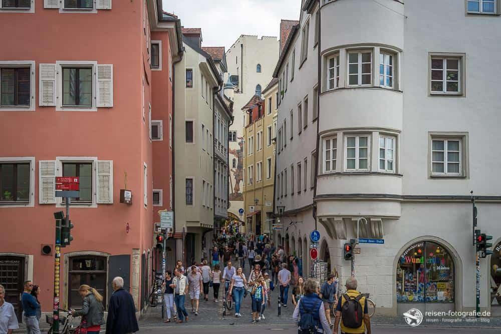 In den Gassen der Regensburger Altstadt
