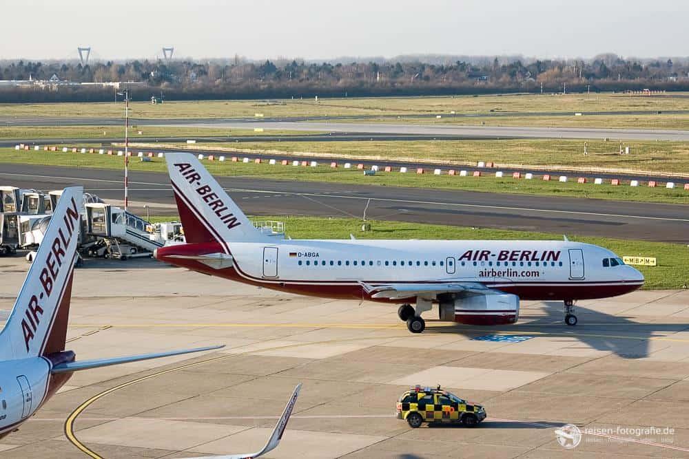 Air Berlin mit Sonne und nicht verwackelt