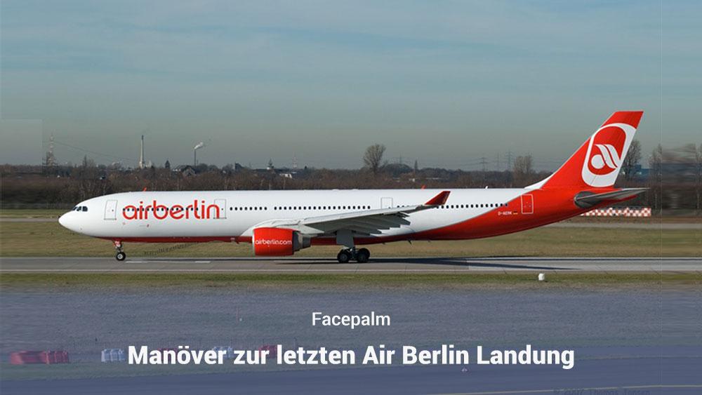 Air Berlin Landung in Düsseldorf