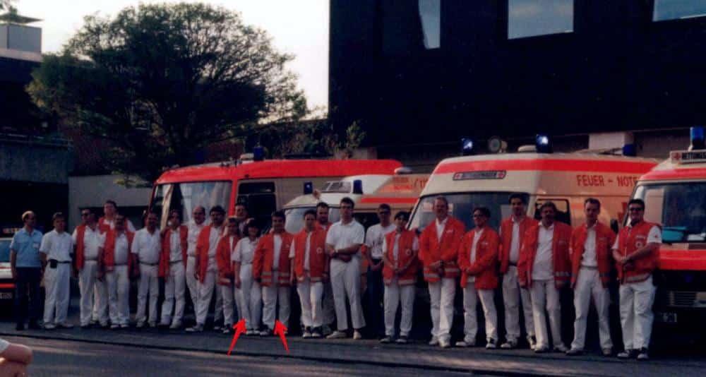 DRK Gruppenfoto Rettungsdienst 1995
