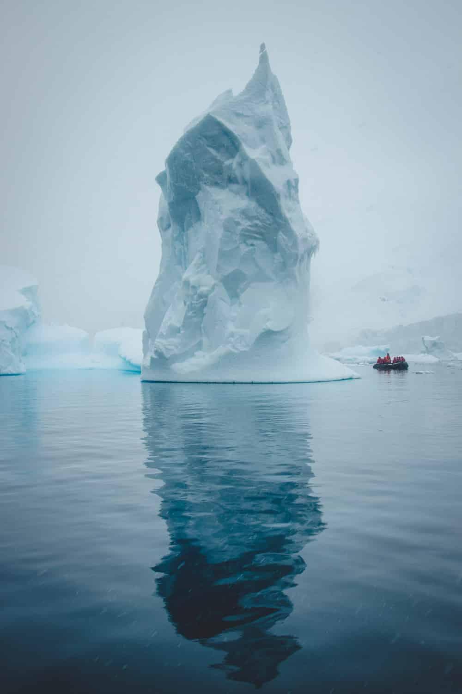Eisberg Antarktis Blickgewinkelt