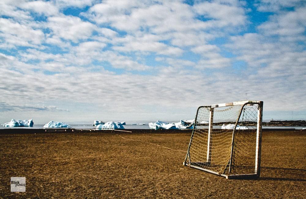 Fußballtor Groenland Blickgewinkelt
