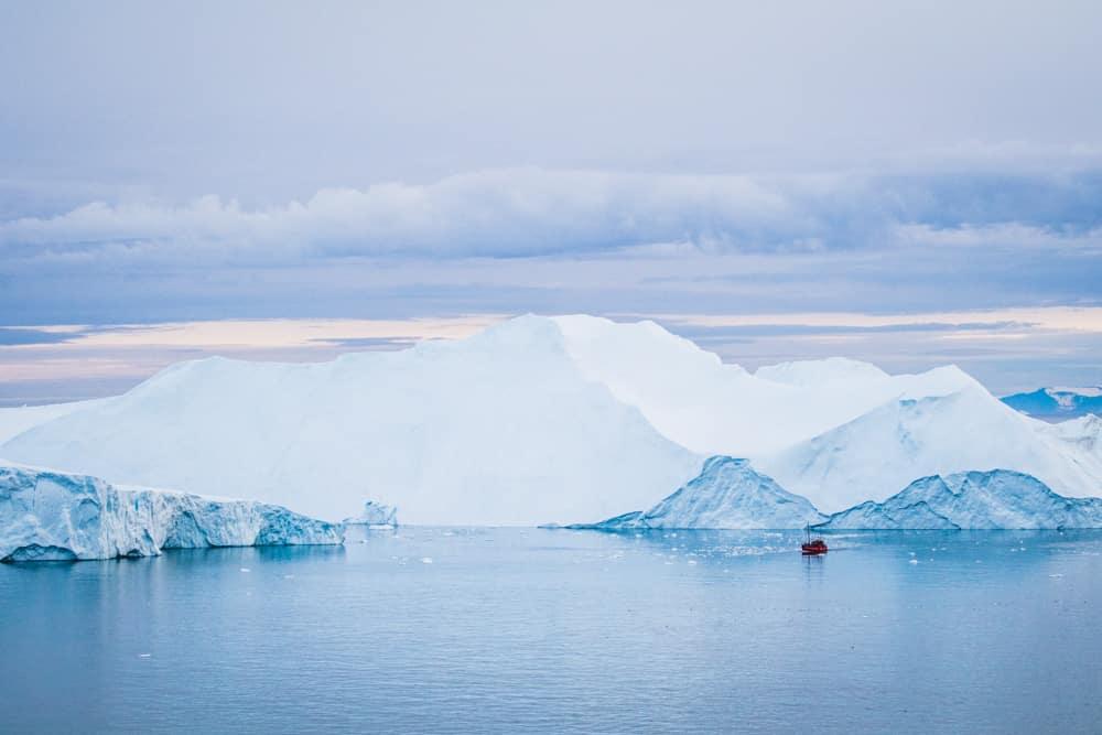 Groenland Eisberge Blickgewinkelt