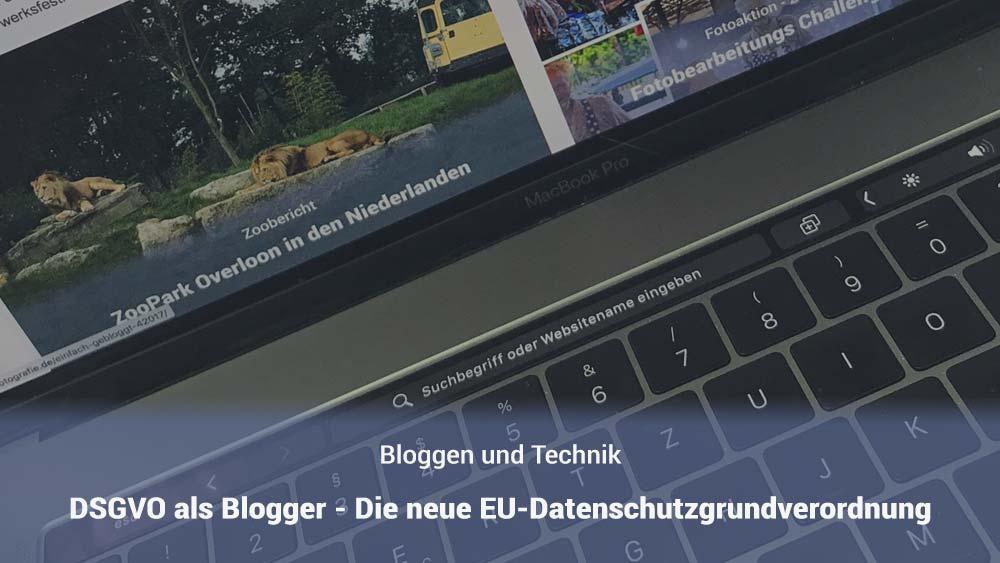 DSGVO als Blogger