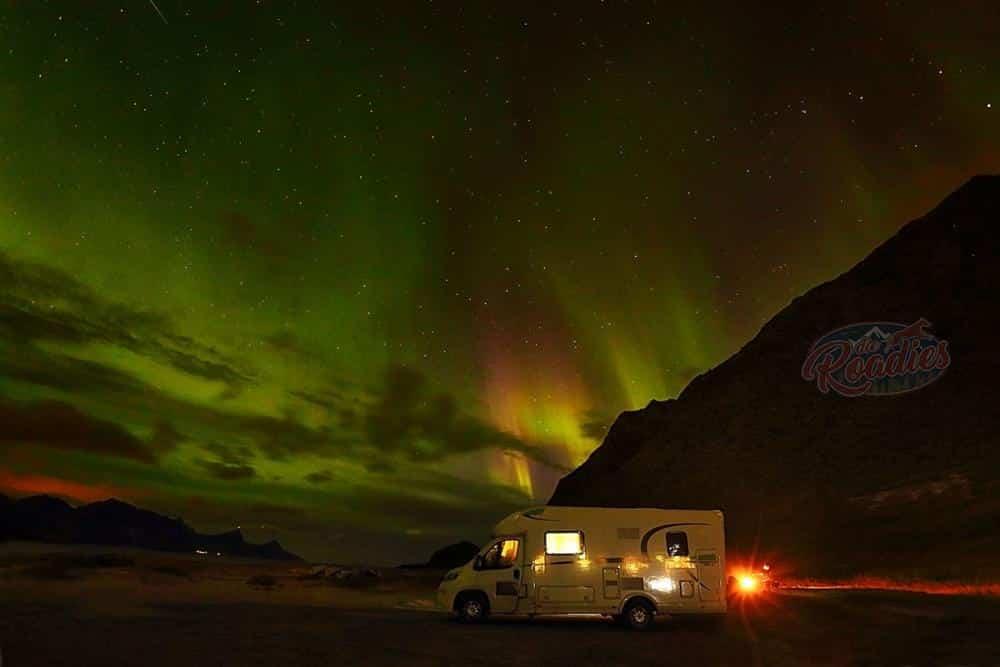 Lieblingsbild 1 Nordlichter Haukland Beach Norwegen