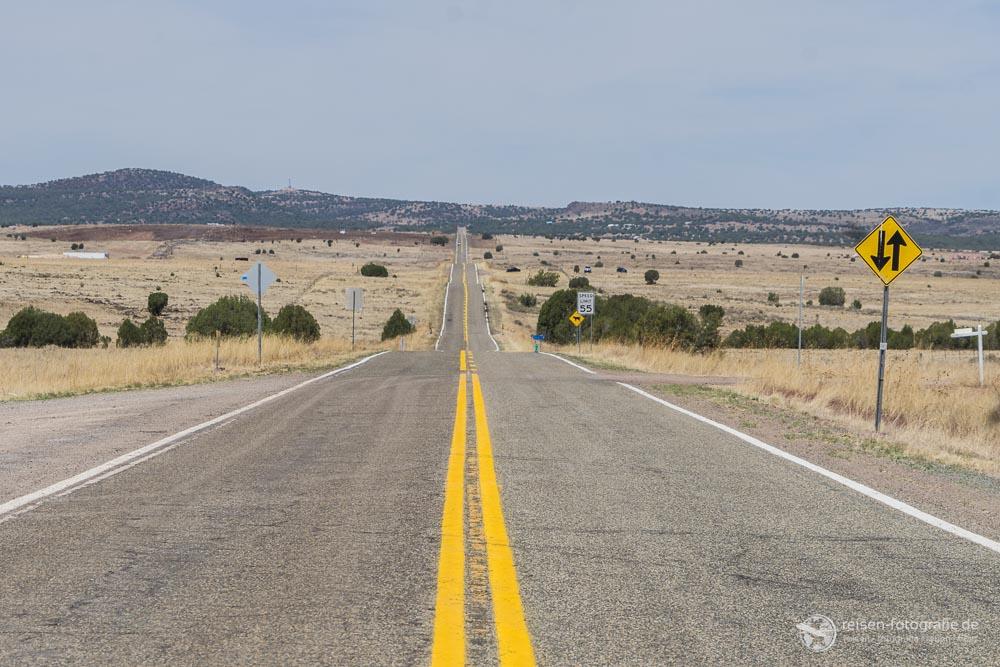 Route 66 zwischen Ash Fork und Seligman