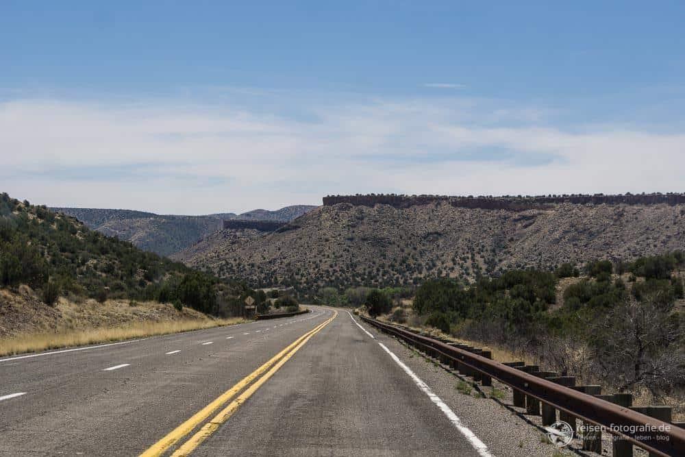 Route 66 - Vor Hackberry gibt es wieder Kurven