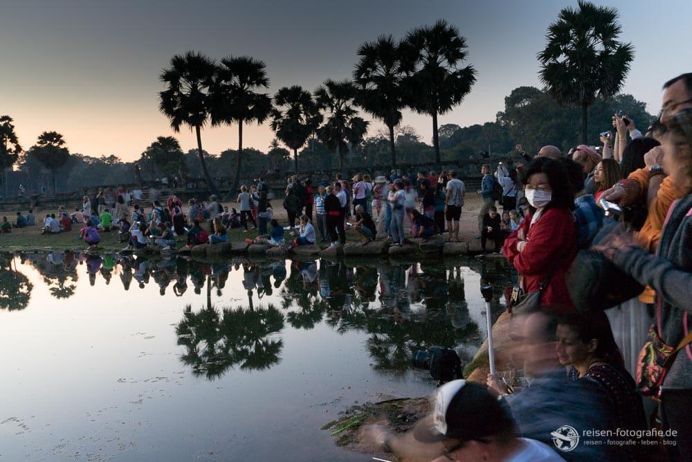 Sonnenaufgang am Angkor Wat Realität