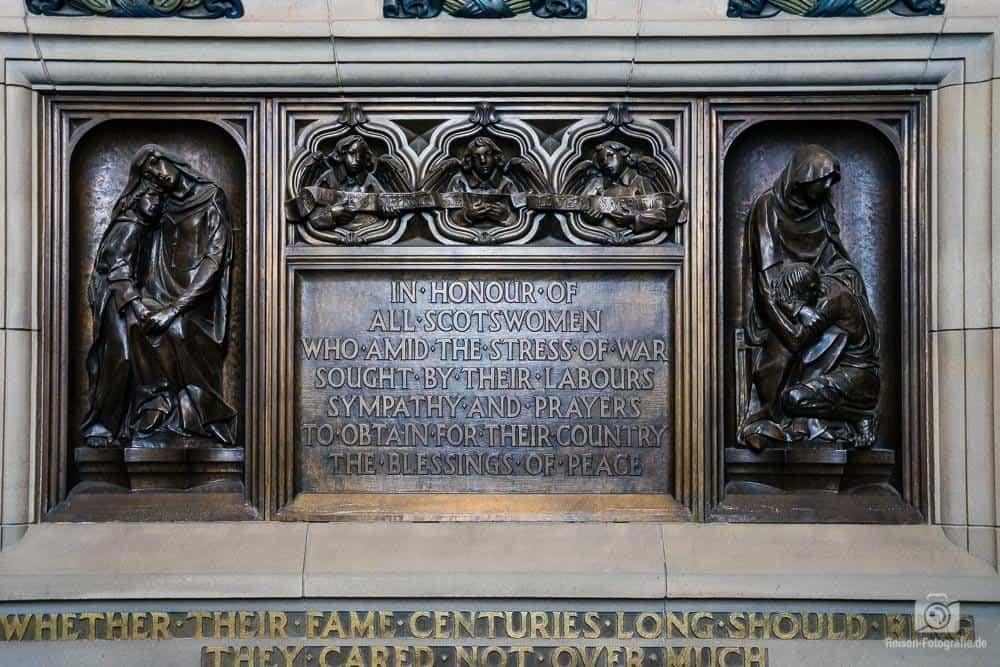 Gedenktafel im Ediburgh Castle