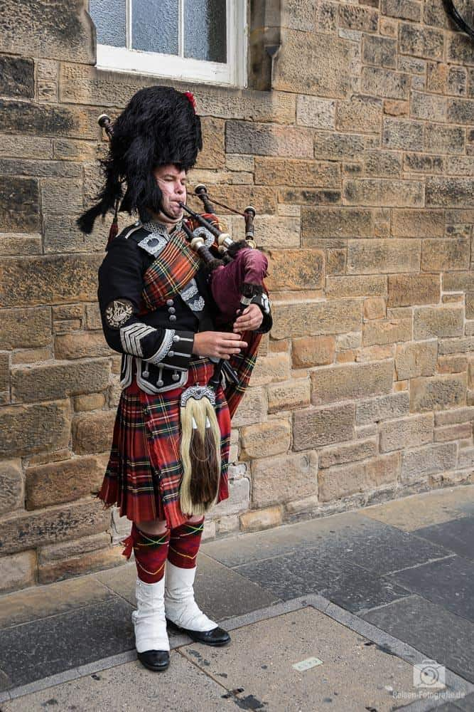 Dudelsackspieler im Edinburgh Castle