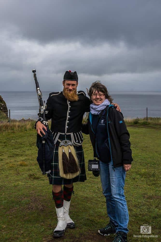 Dudelsackspieler auf der Isle of Sky