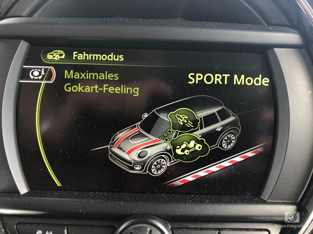 Mini Cooper Sport Modus