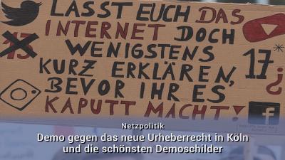 Artikel 13 Demo Köln