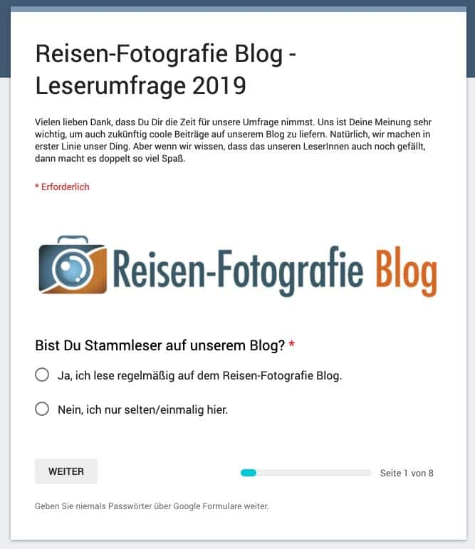 Leserumfrage Blog 2019