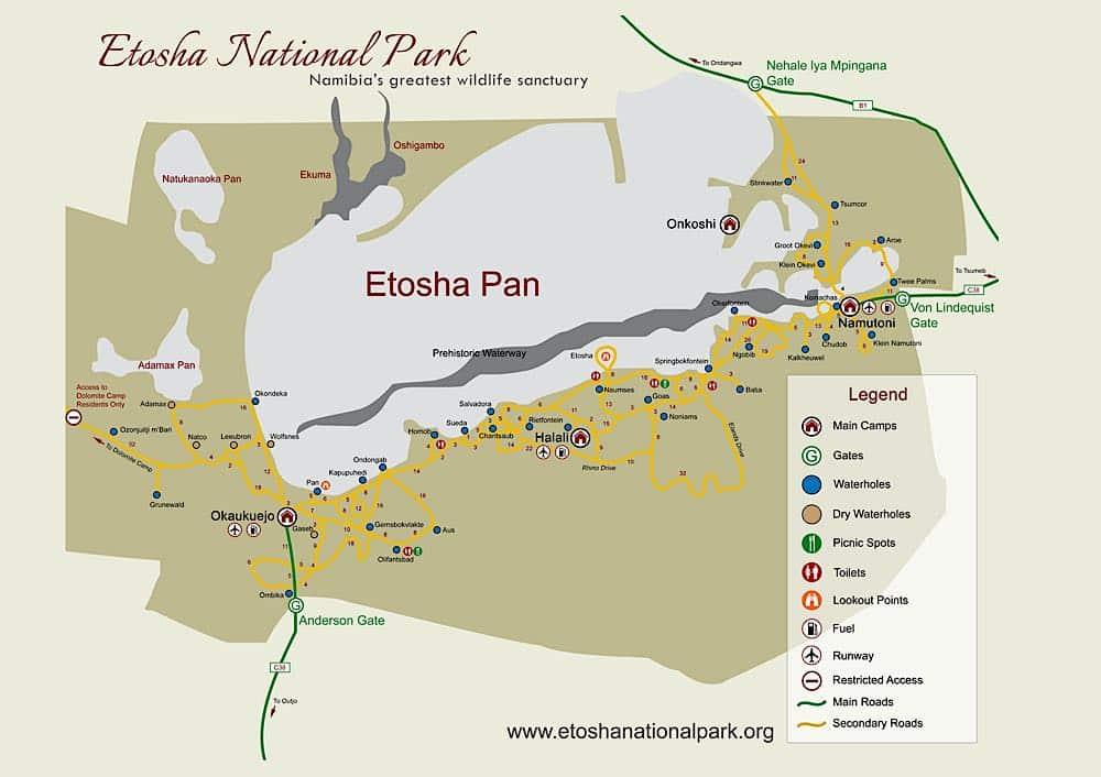 Etosha Karte