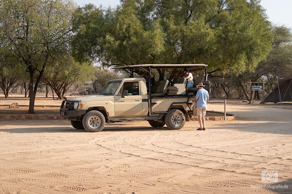 Auf zum abendlichen Game Drive auf der Otjiwa Safari Lodge