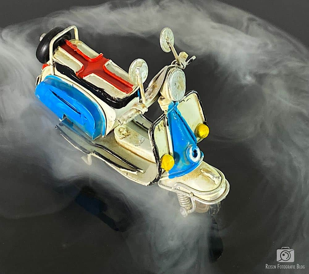 Roller im Nebel