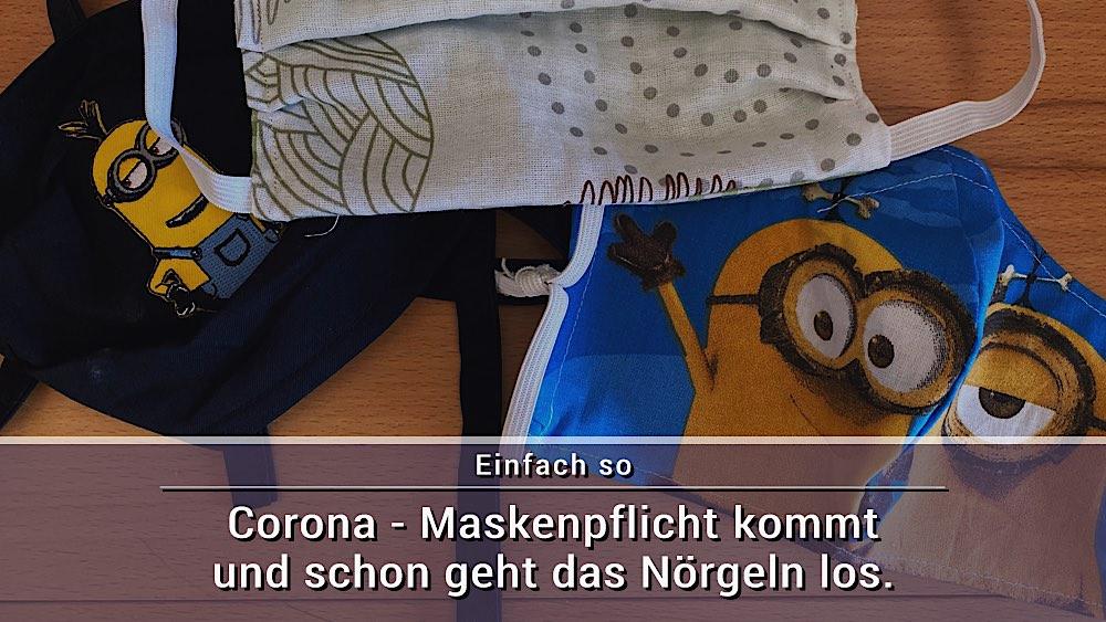 Corona Maskenpflicht