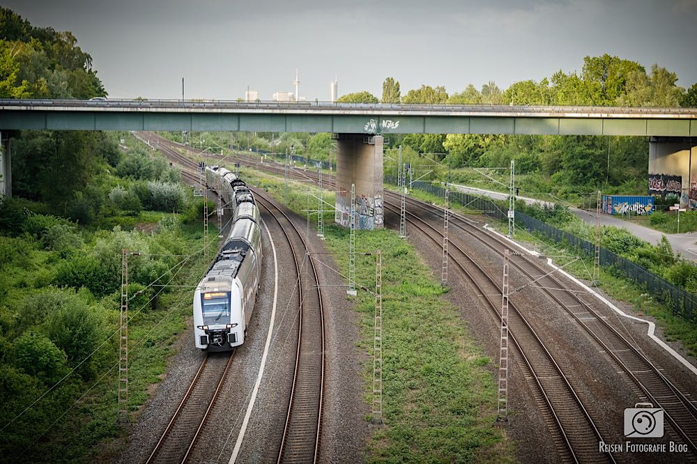 Hardenbergbrücke mit Blick Richtung Essen