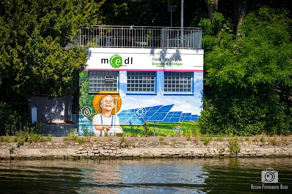 Graffiti vom örtlichen Energieversorger