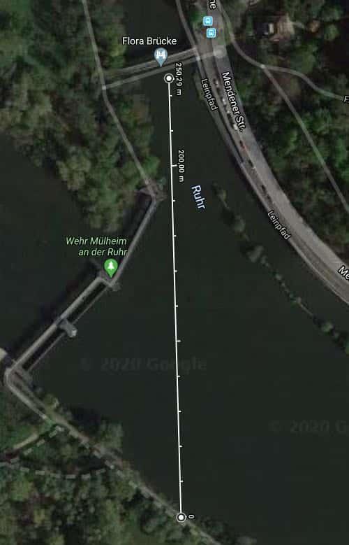 Entfernung Boot