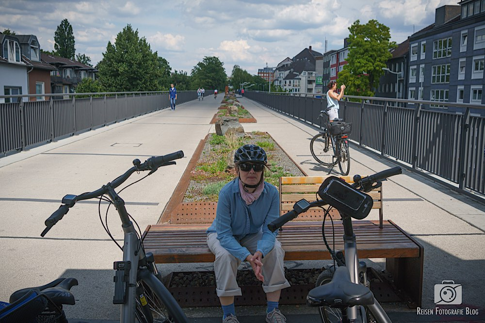 Auf dem Radschnellweg Rheinische Bahn