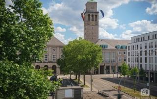 Blick auf das Mülheimer Rathaus