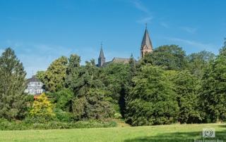 Blick auf das Kloster Saarn