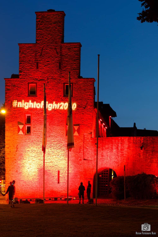 Night of Light - Schloss Broich in Rot