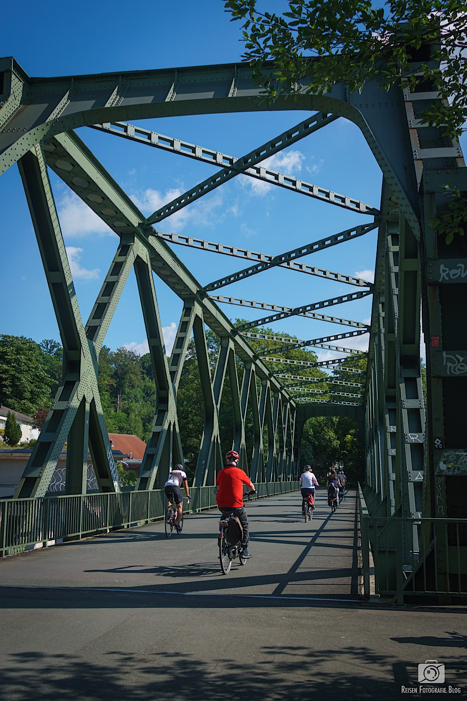 Der Radweg in Essen Steele an der Ruhr