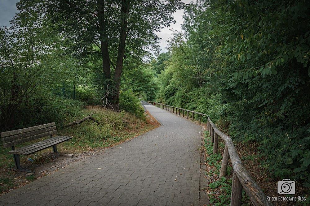 Einstieg in den Panorama Radweg Niederbergbahn