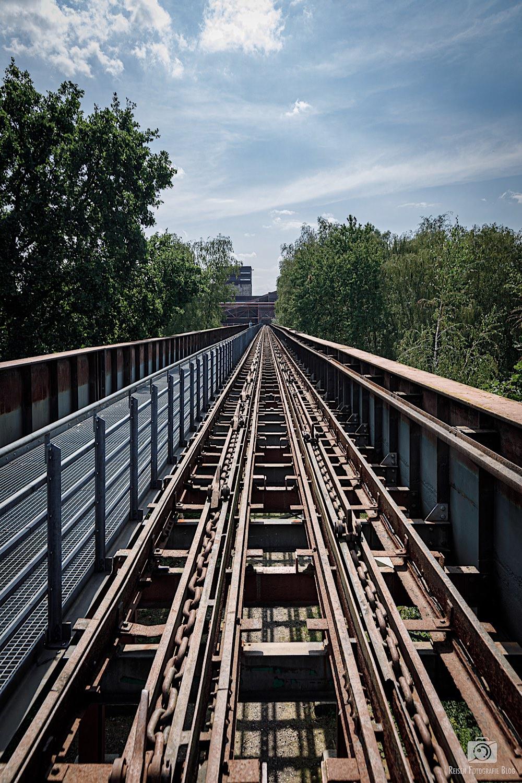 Schienen in Richtung Schacht XII