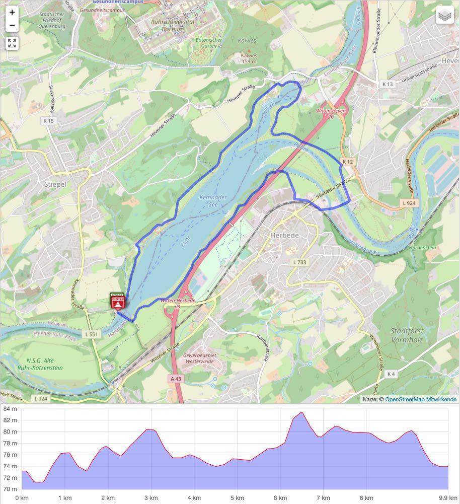 Ruhrtal Radweg 10 - Kemnader See