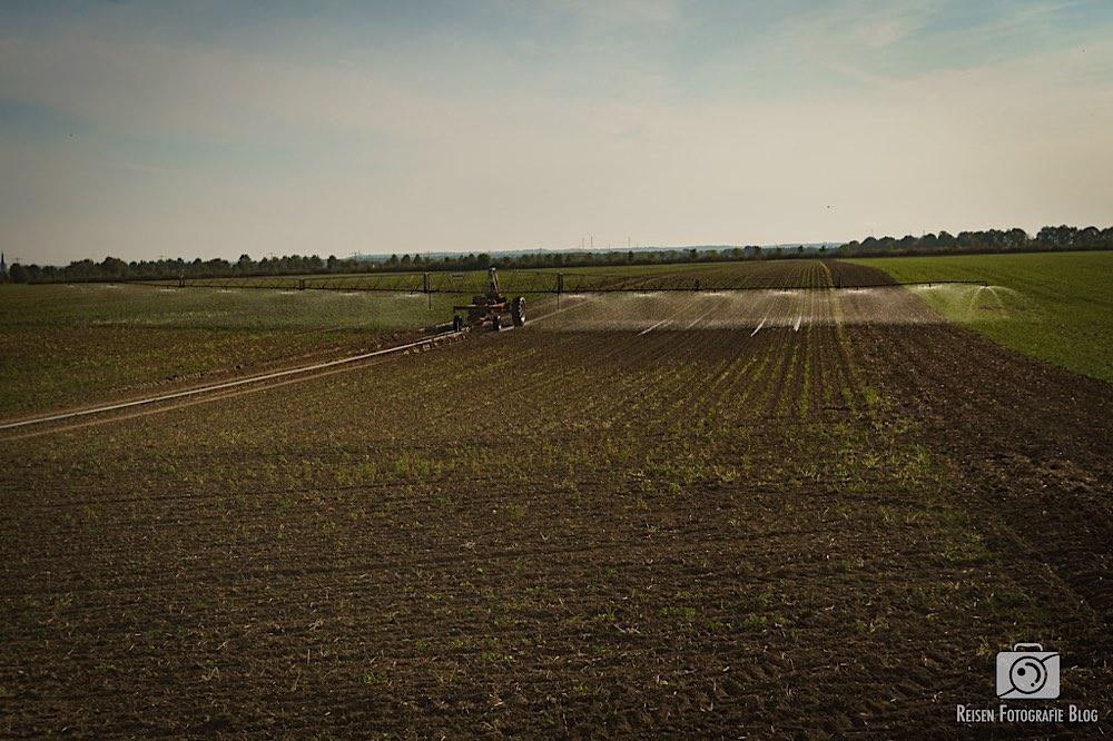 Wasser auf die Felder