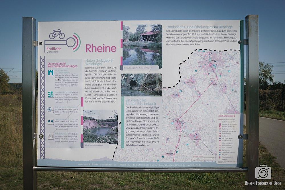 Infotafeln an der Radbahn Münsterland