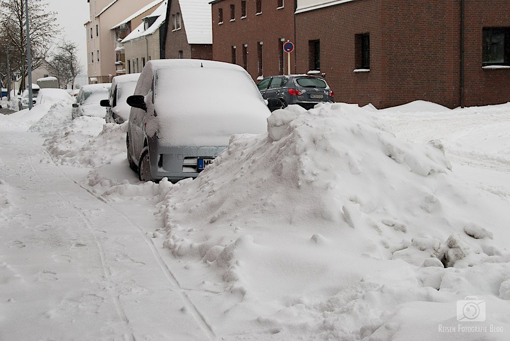 Schnee in Mülheim