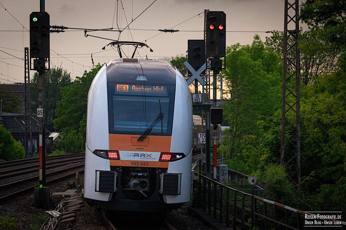 RRX Ausfahrt Richtung Duisburg