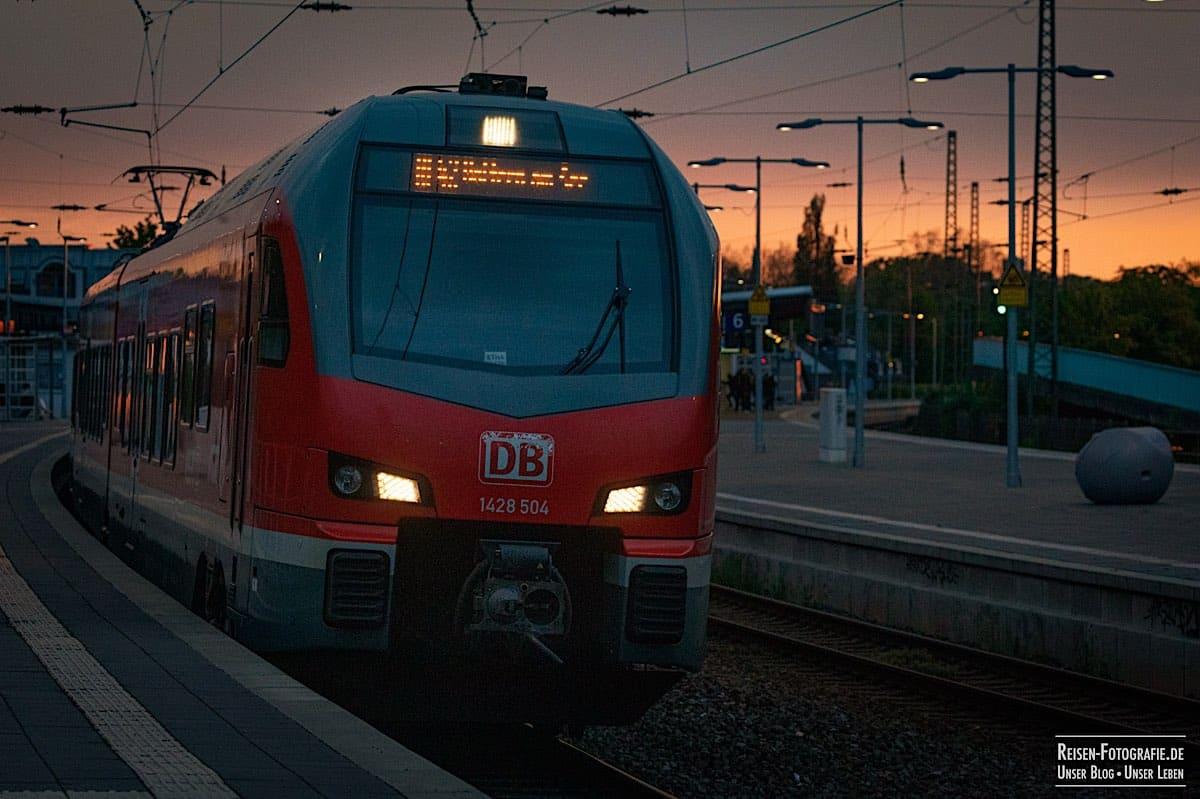 Abfahrt in Mülheim
