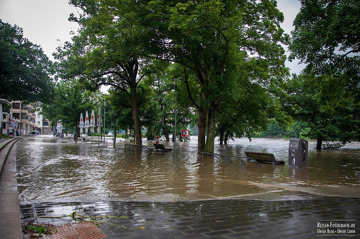 Promenade unter Wasser