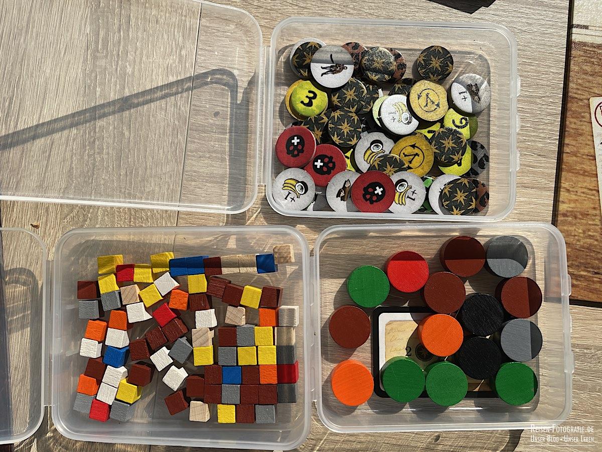 Marker, Ressourcen und Spielsteine