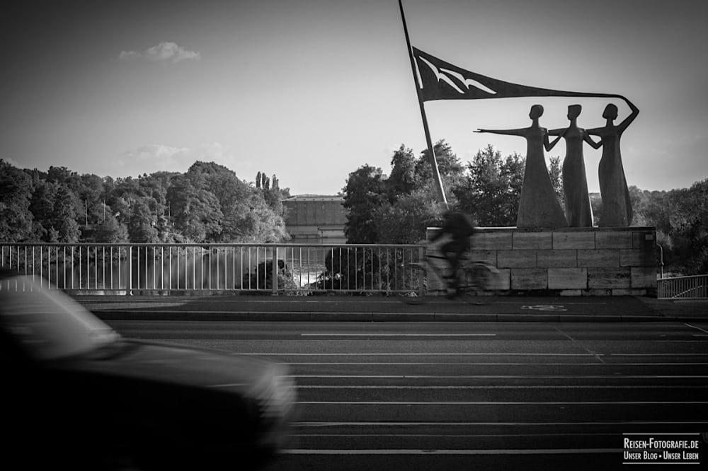 Drei Grazien auf der Schloßbrücke