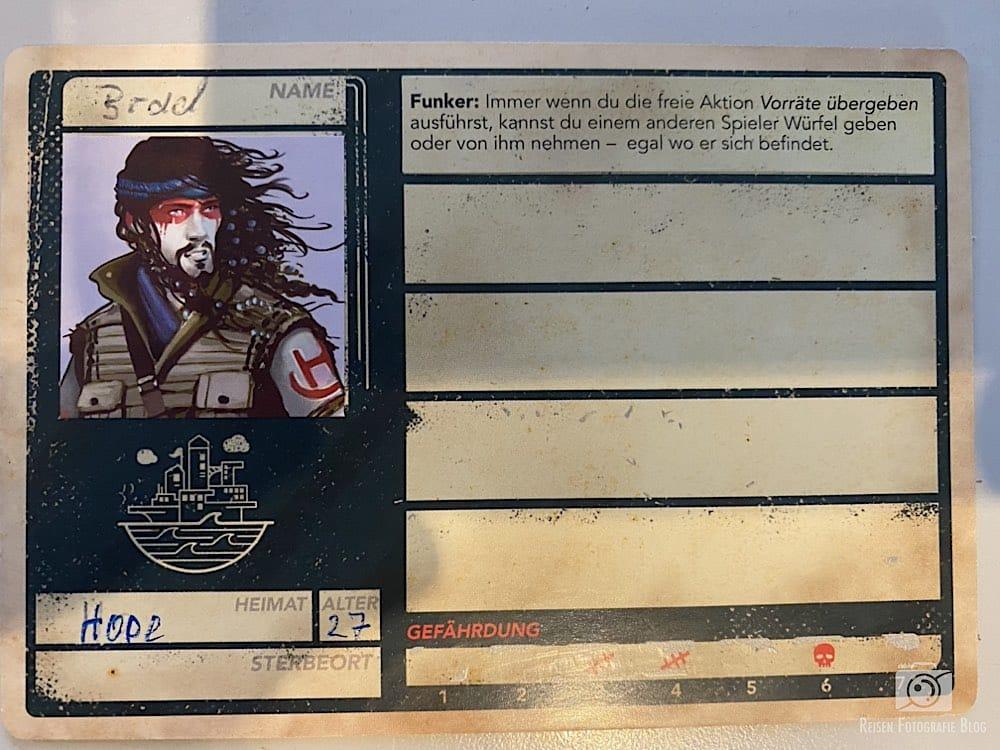 Pandemic 2 Charakterkarte