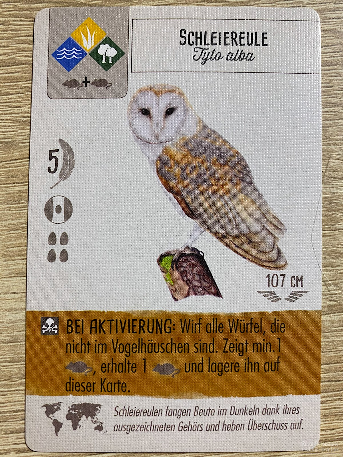 Flügelschlag - Vogelkarte
