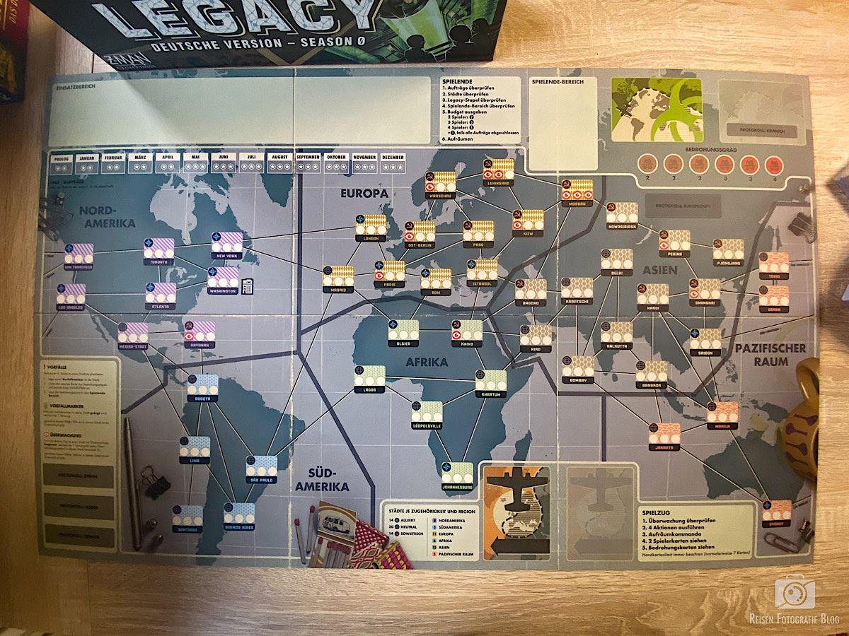 Pandemix Legacy 0 Spielplan